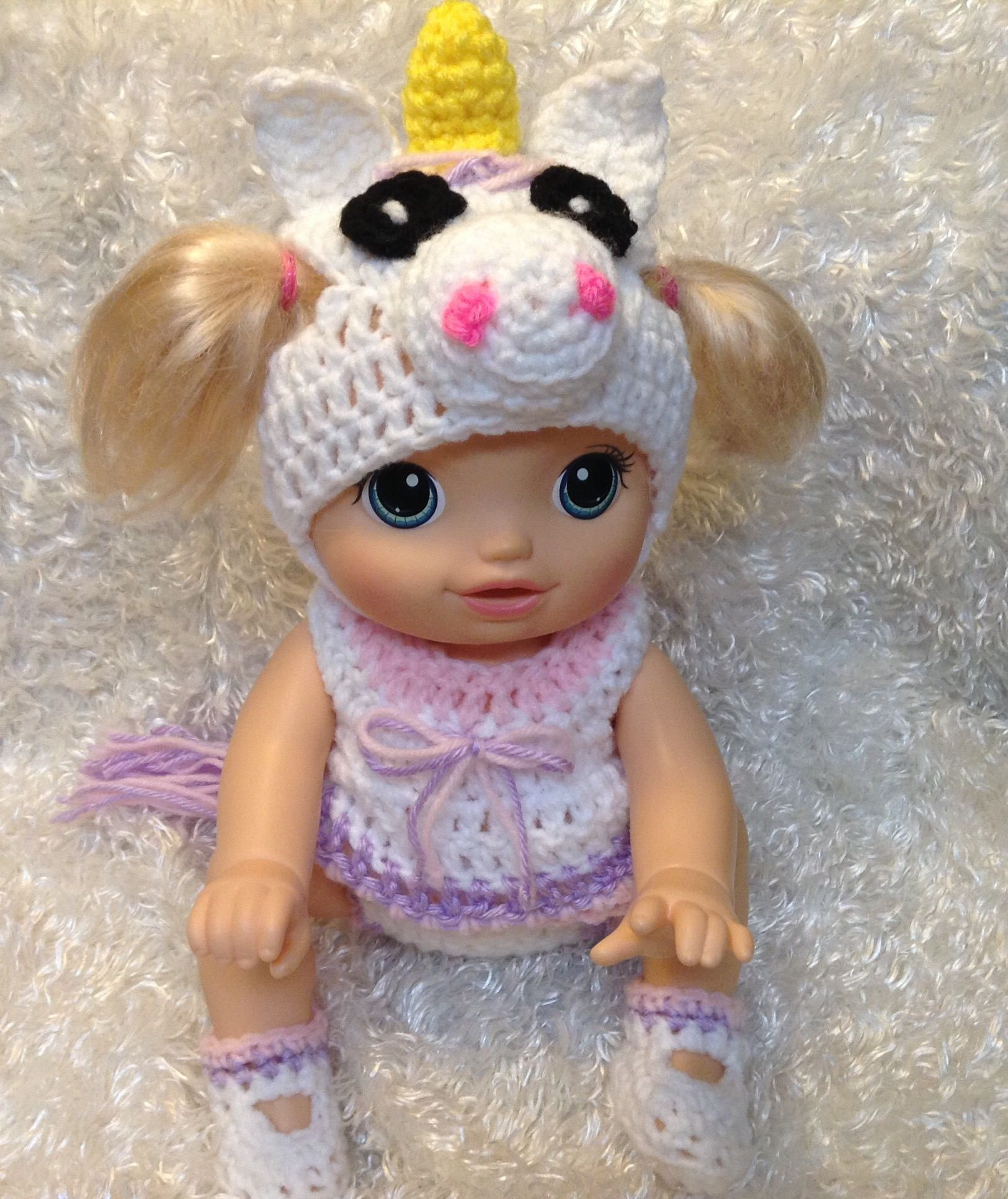 14 Inch Dolls Fits Crawling Go Bye Bye Doll Unicorn Set Baby Alive Baby Alive Doll Clothes Baby Alive Dolls