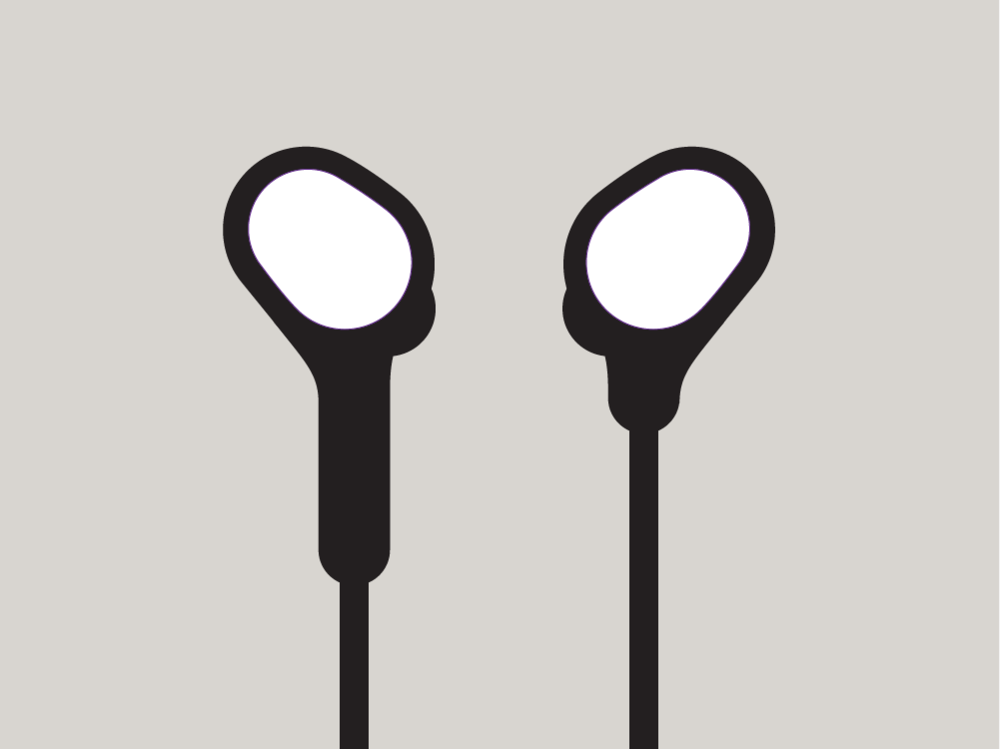 Blue Outline Airpods Earbuds Vector Icon Vector Icons Icon Outline
