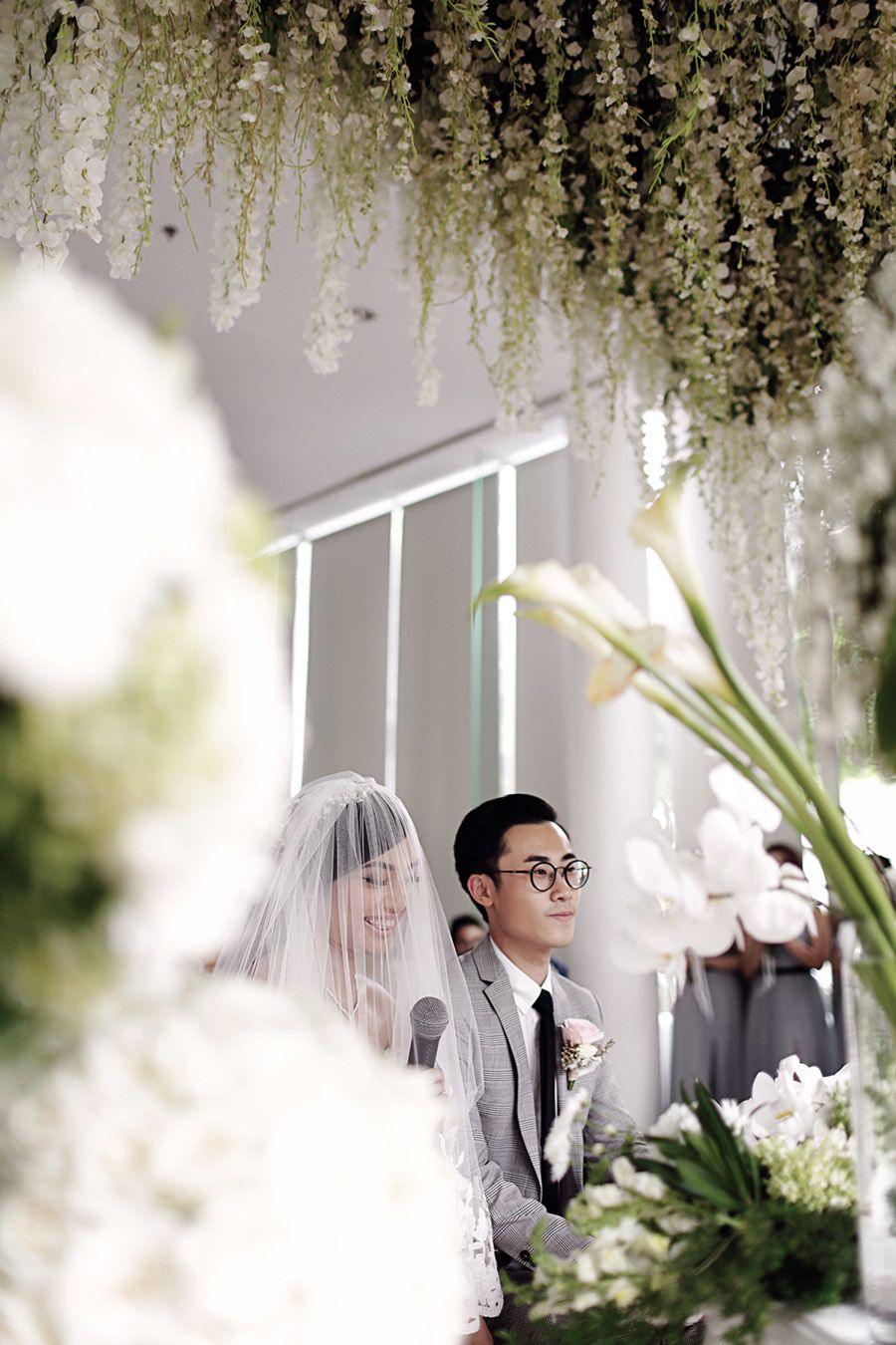 Titien and mishiels green and white wedding at padma hotel bandung green and white floral decor from fuchsia decorations and david fuchsia is bandung the junglespirit Image collections