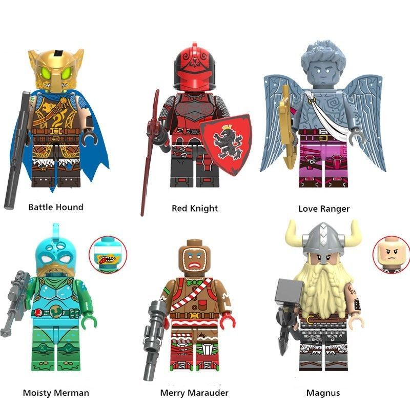 Custom fit Lego Fortnite Battle Royale Game Minifigures Red Knight Love  Ranger #afflink   Red knight, Lego figures, Mini figures