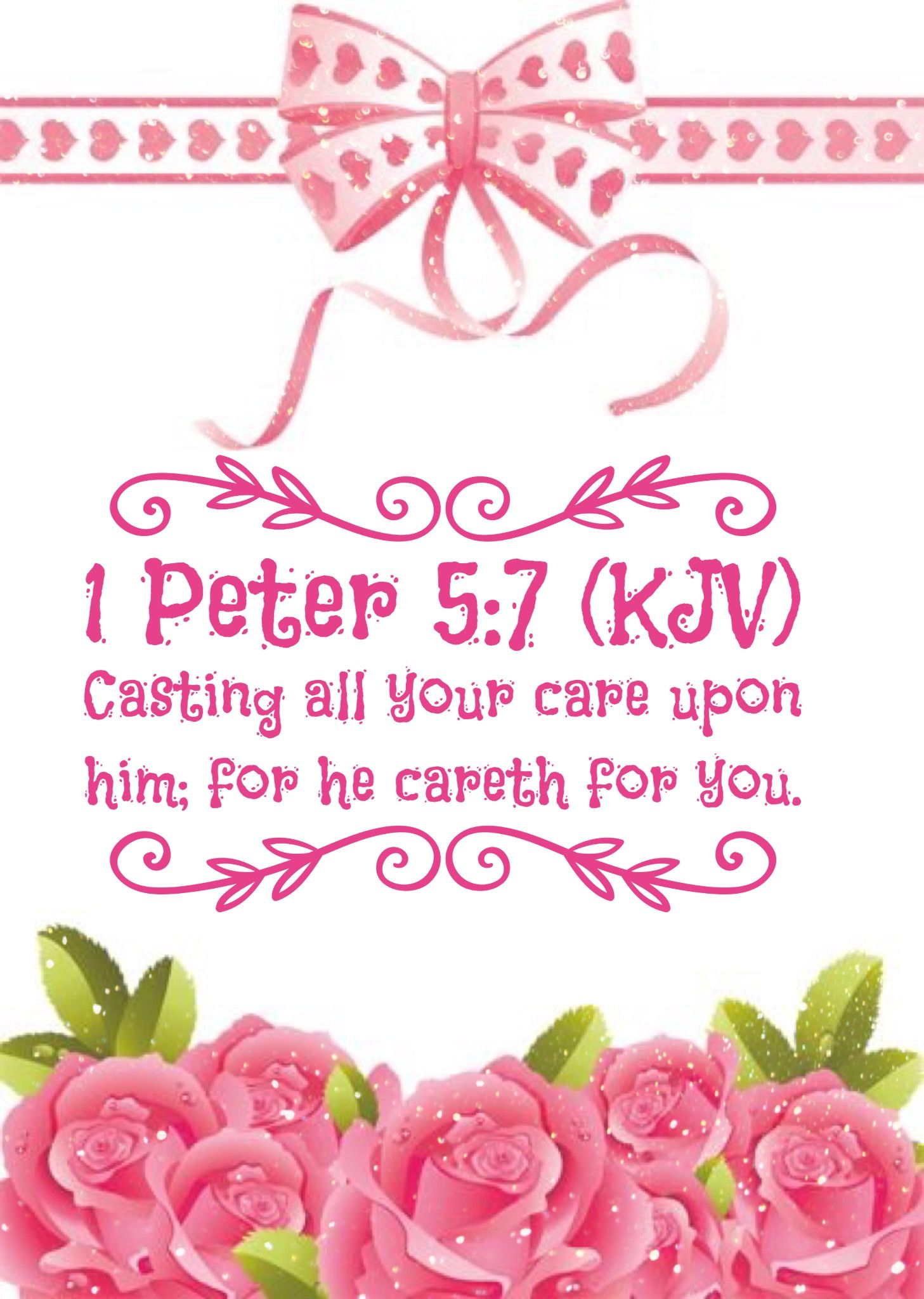 1 Peter 5:7 KJV | One In Christ | Bible verses kjv, Bible