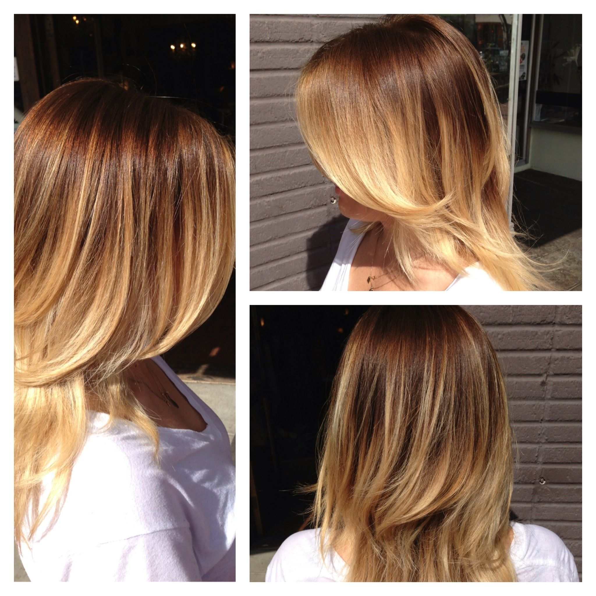 Light Brown To Blonde Balayage Ombre Before And After