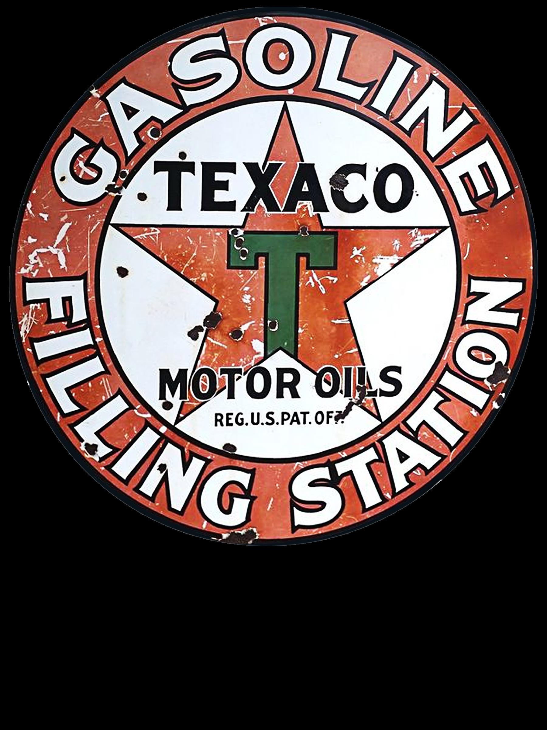 VINTAGE STYLE 2 INCH TEXACO GASOLINE MOTOR OIL DECAL STICKER