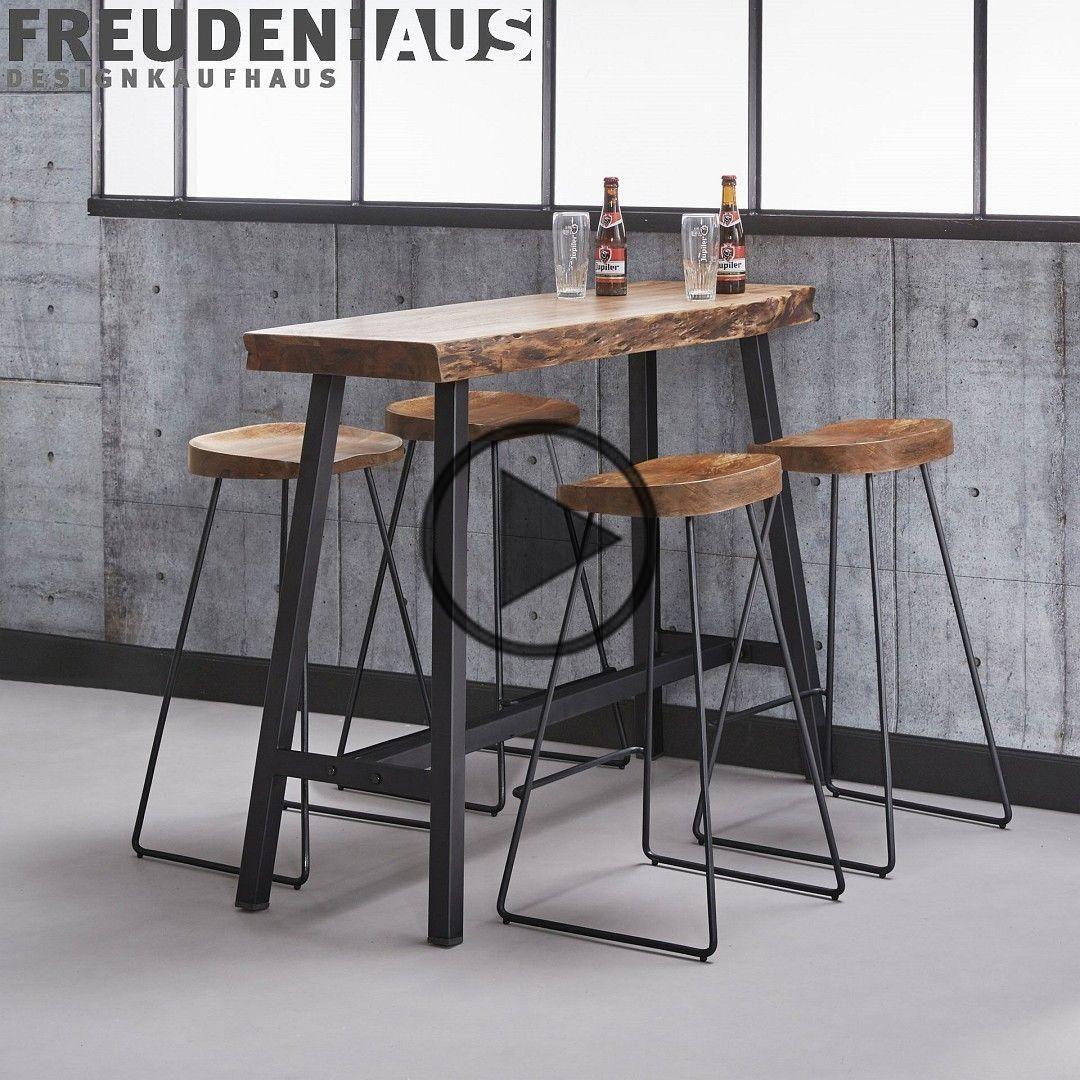 Bar Table Statafel Set Wood Acacia Industrial 4 Barkrukken Wane Meubelen Food Eettafels Bar Table Ikea Bar Table Sets Bar Table