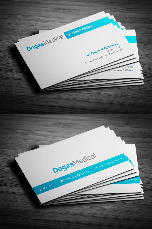 Business Card - Degas Medical | Business Card Design | Pinterest ...