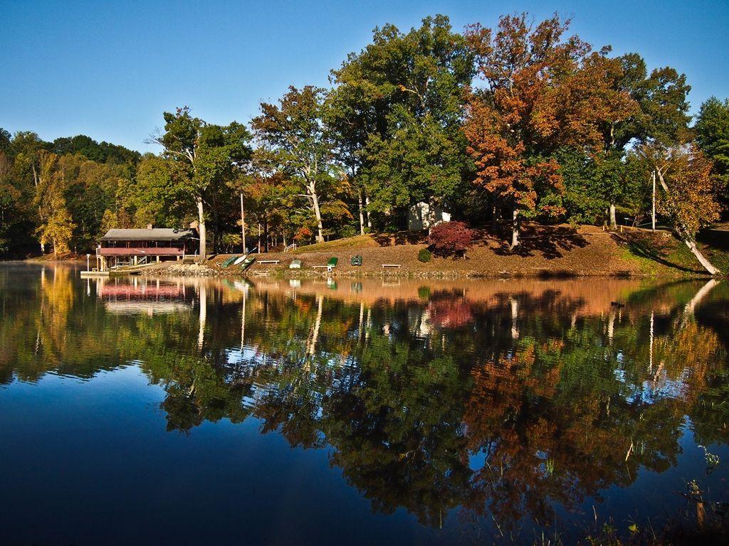 Autumn Day on Lake Lanier in Martinsville, VA | Virginia