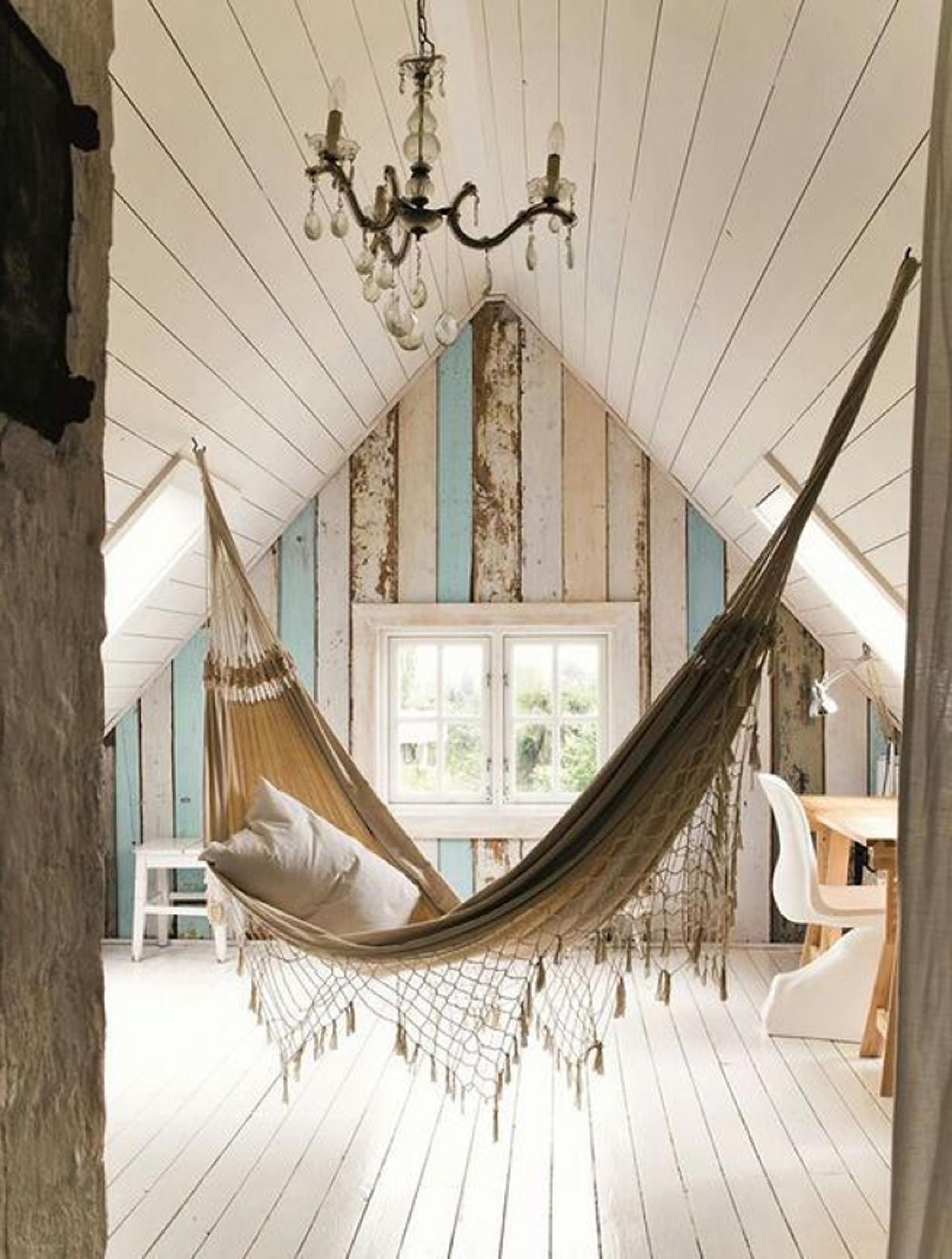 creative room decorating ideas with hammocks for interior