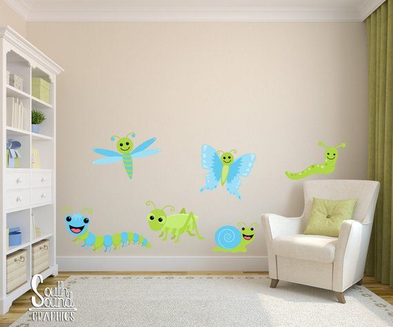Fabric Wall Decal Set for Boy\'s Nursery and Kids Rooms ...