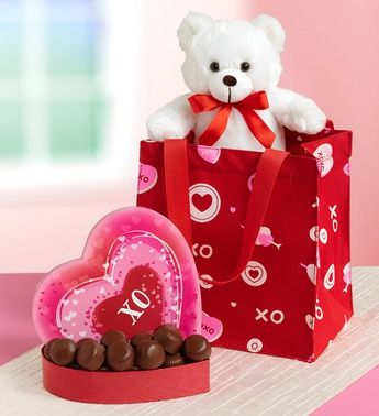 True Love Teddy & Chocolates in Tote | Be Mine | Pinterest