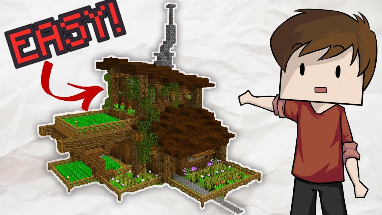 Minecraft: small easy modern house tutorial how to build a house.