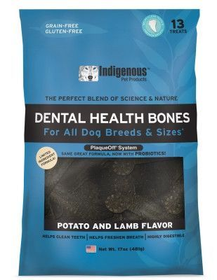 DOG TREATS - DENTAL CHEWS - INDIGENOUS POTATO LAMB 17 OZ - OLD# ID15397