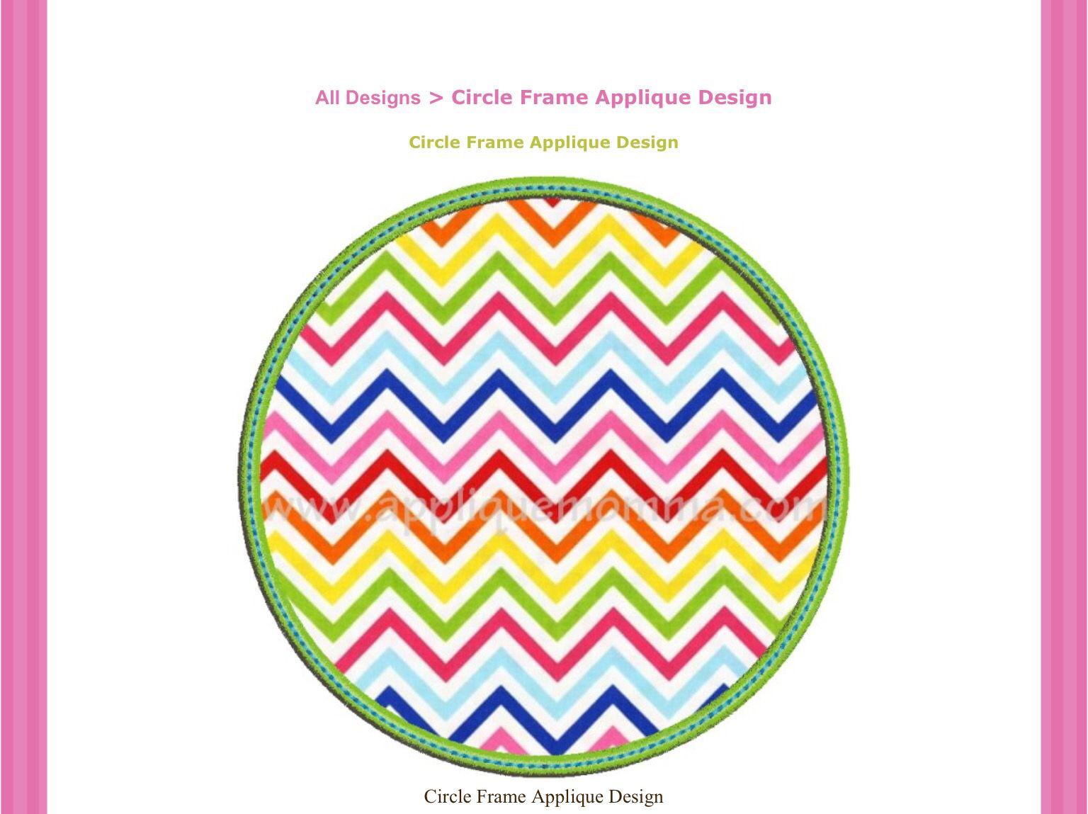 Circle Frame Satin Raggy Zigzag