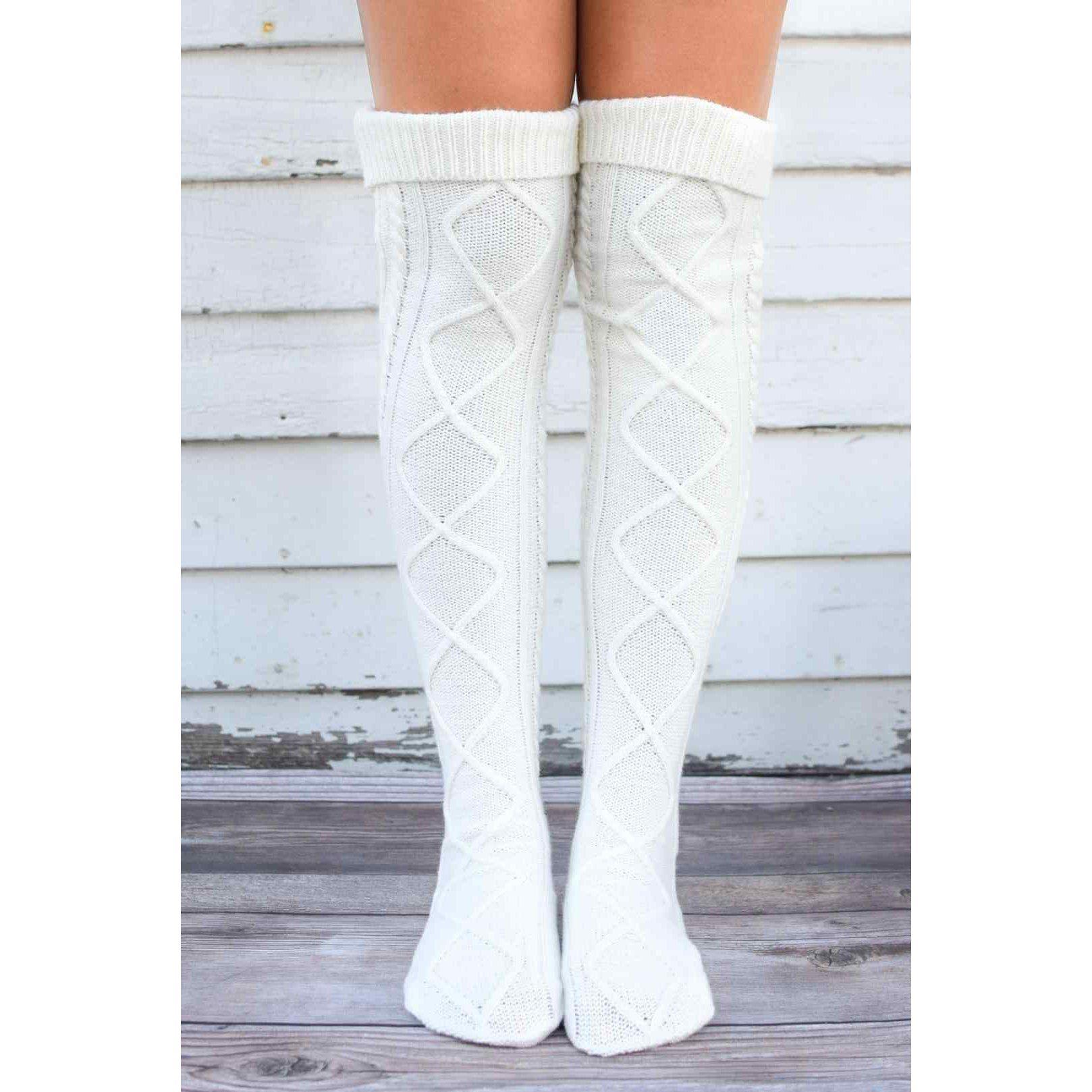 Over The Knee Knit Socks #inspireuplift explore Pinterest