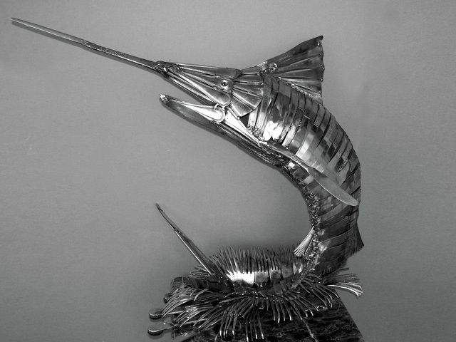 espadon sculpté par Gary Horey