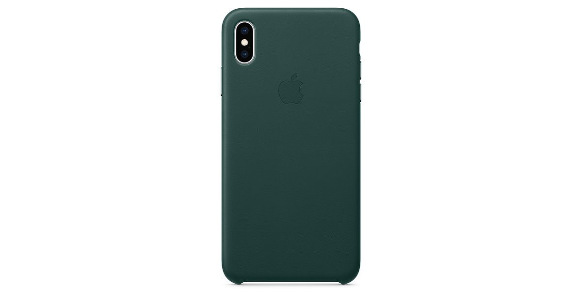 custodia originale Apple Folio Case iPhone XS Forest Green cover