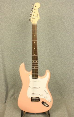 Squier Bullet Stratocaster Electric Guitar In Shell Pink Finish Squier Bullet Squier Guitar