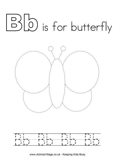 Tracing Alphabet B Tracing Worksheets Preschool Alphabet