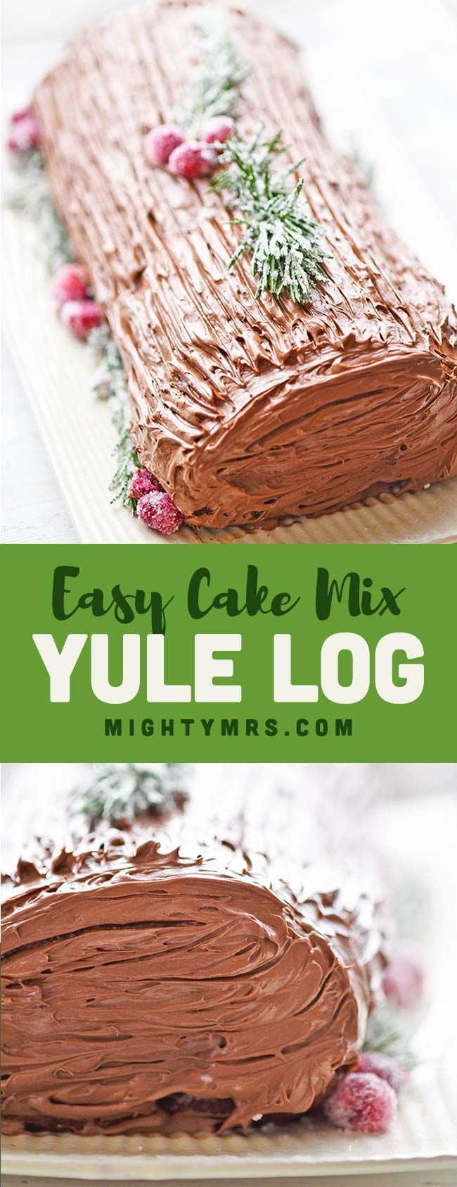 Easy Yule Log Recipe Using Cake Mix | Mighty Mrs
