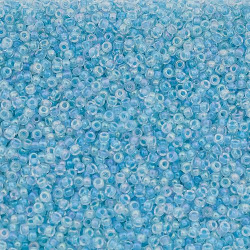 8/0 Glacier Blue Lined Crystal AB Miyuki Seed Beads | Auntie's Beads