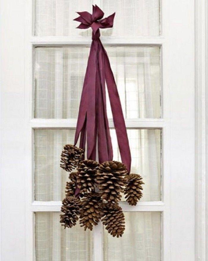 sch ne weihnachtsdeko f r die einganst r noch mehr weihnachtsideen gibt es auf. Black Bedroom Furniture Sets. Home Design Ideas