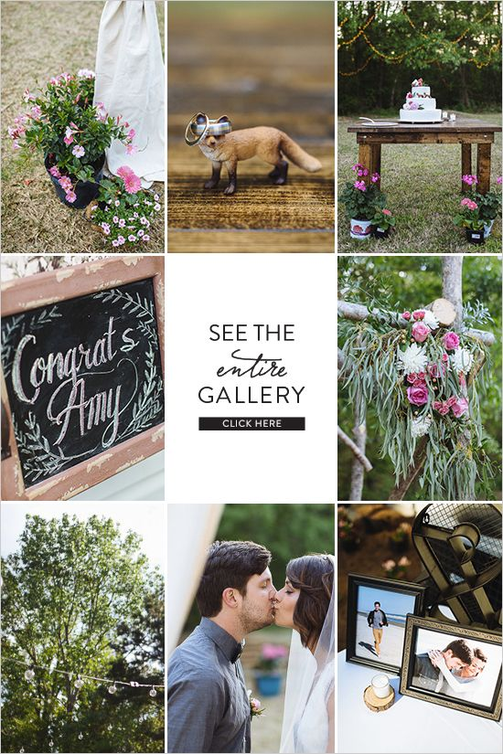 Looking for a hip backyard wedding filled with funky fun, here it is! Floral decor by Flowers by Frankie and photographed by Clay Austin Photography.