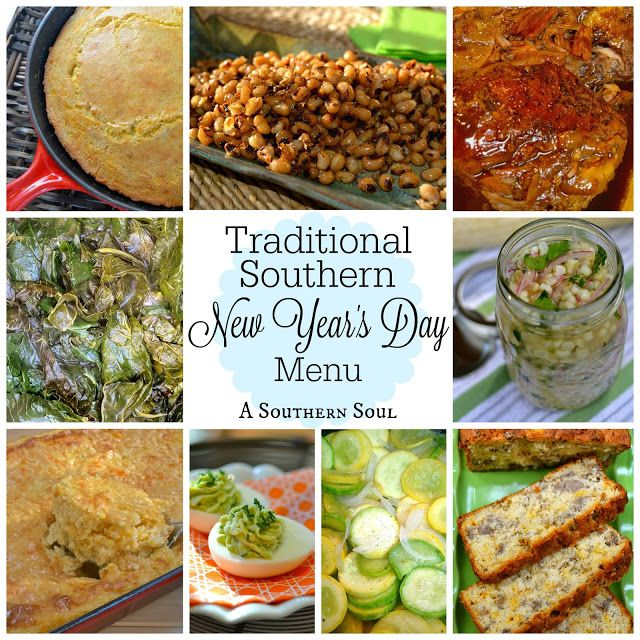 Traditional Southern New Year's Day Menu New years day