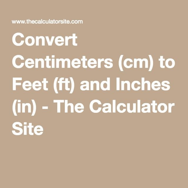 Cm in feet and inches