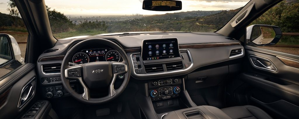 2021 Tahoe Interior Dashboard in 2020 9 passenger suv