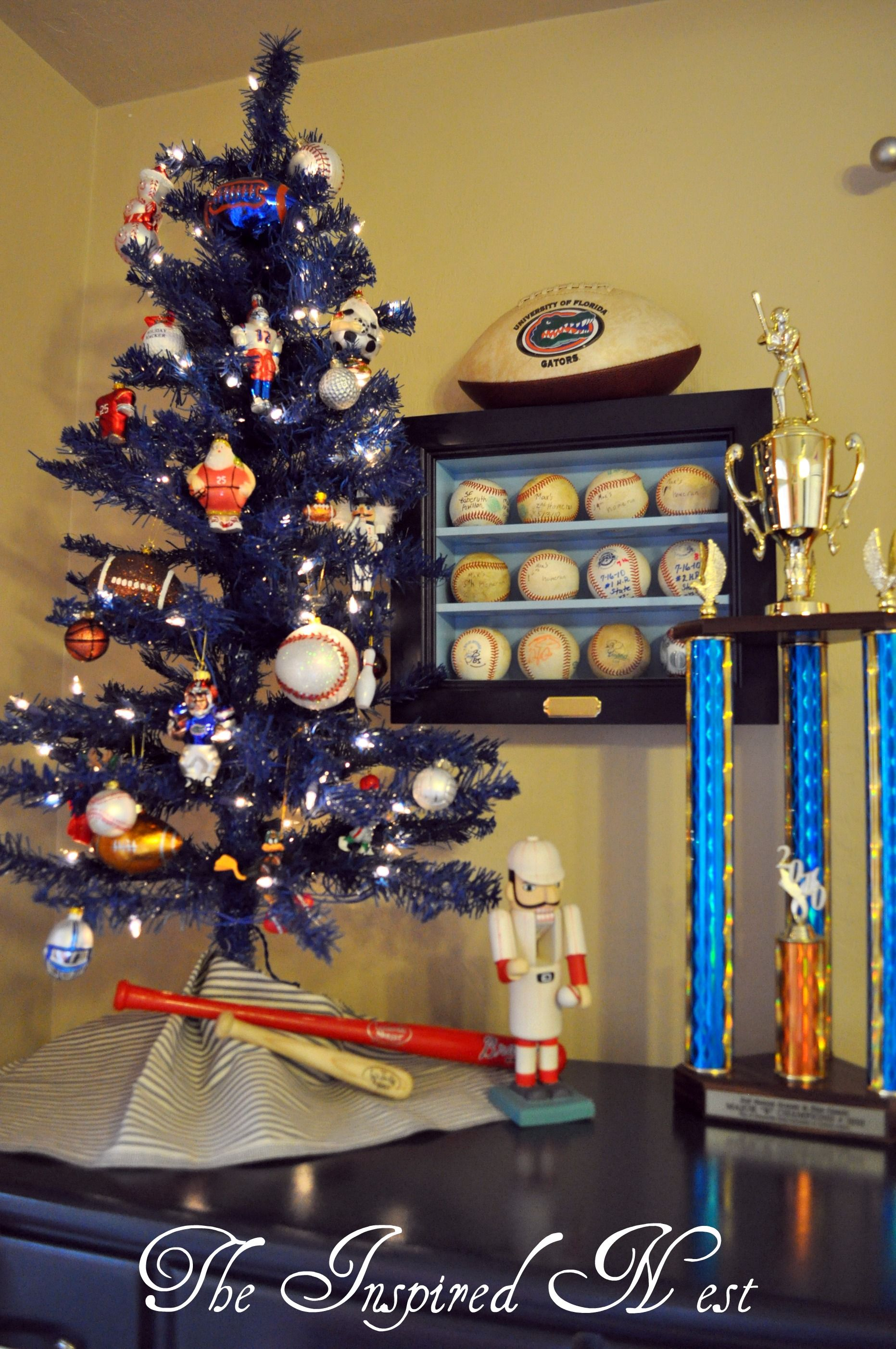 Sports Themed Tree In A Boys Florida Gator Room Www.the Inspired Nest