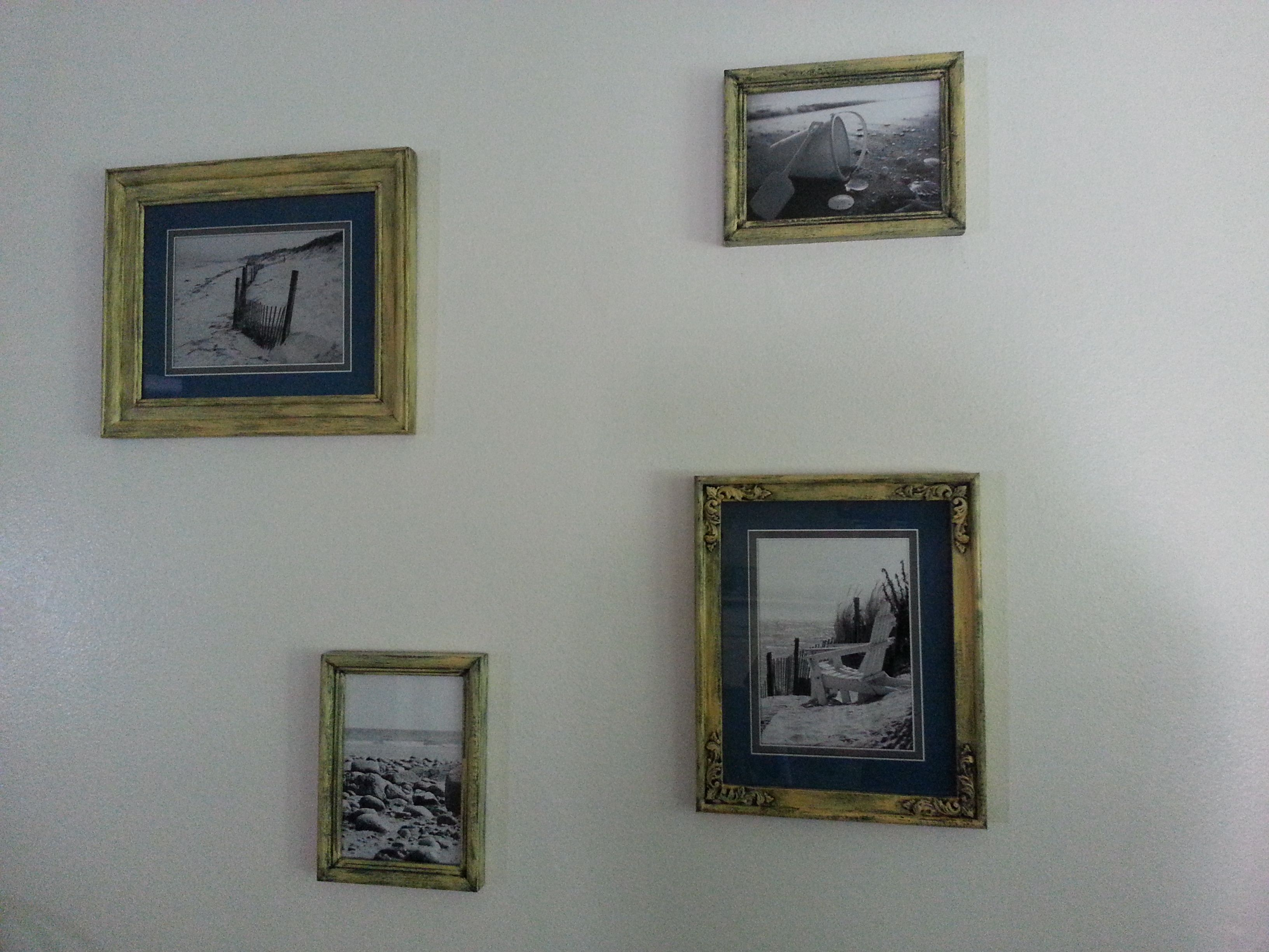 Cheap wall artinted picture frames i found packed in a box