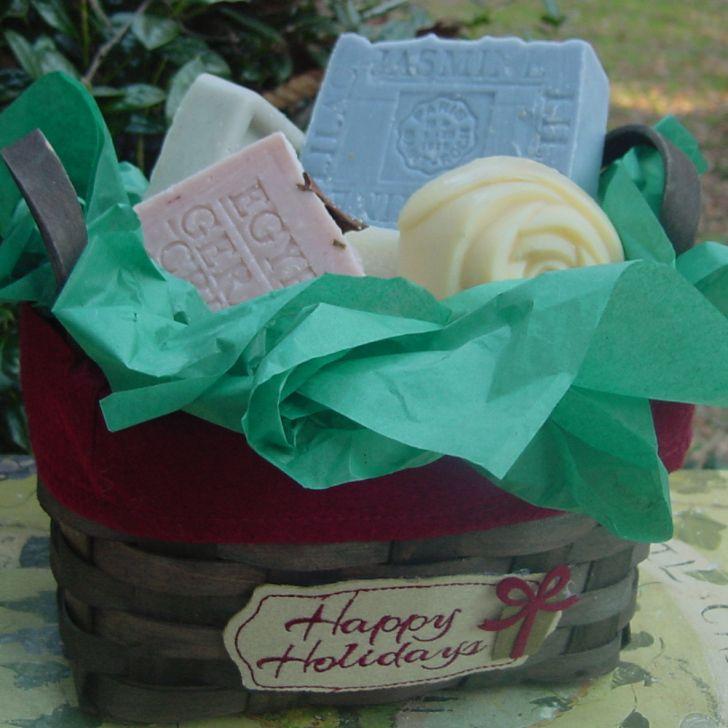 Healthy Gift Baskets for Holidays--Five Piece Soap Gift  ⚜Vitanapoli⚜ La vita è un sogno