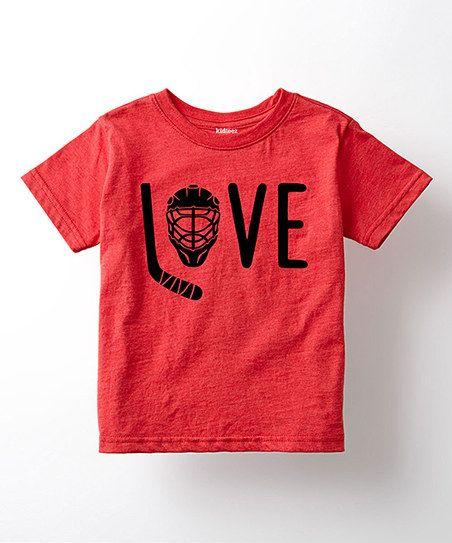 d64c49bdf Love Hockey Tee - Toddler & Kids | zulily | Valentine's day | Hockey ...