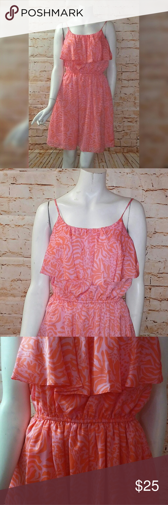 Lilly Pulitzer For Target M Pink Orange Dress Orange Dress Lilly Pulitzer Target Clothes Design [ 1740 x 580 Pixel ]