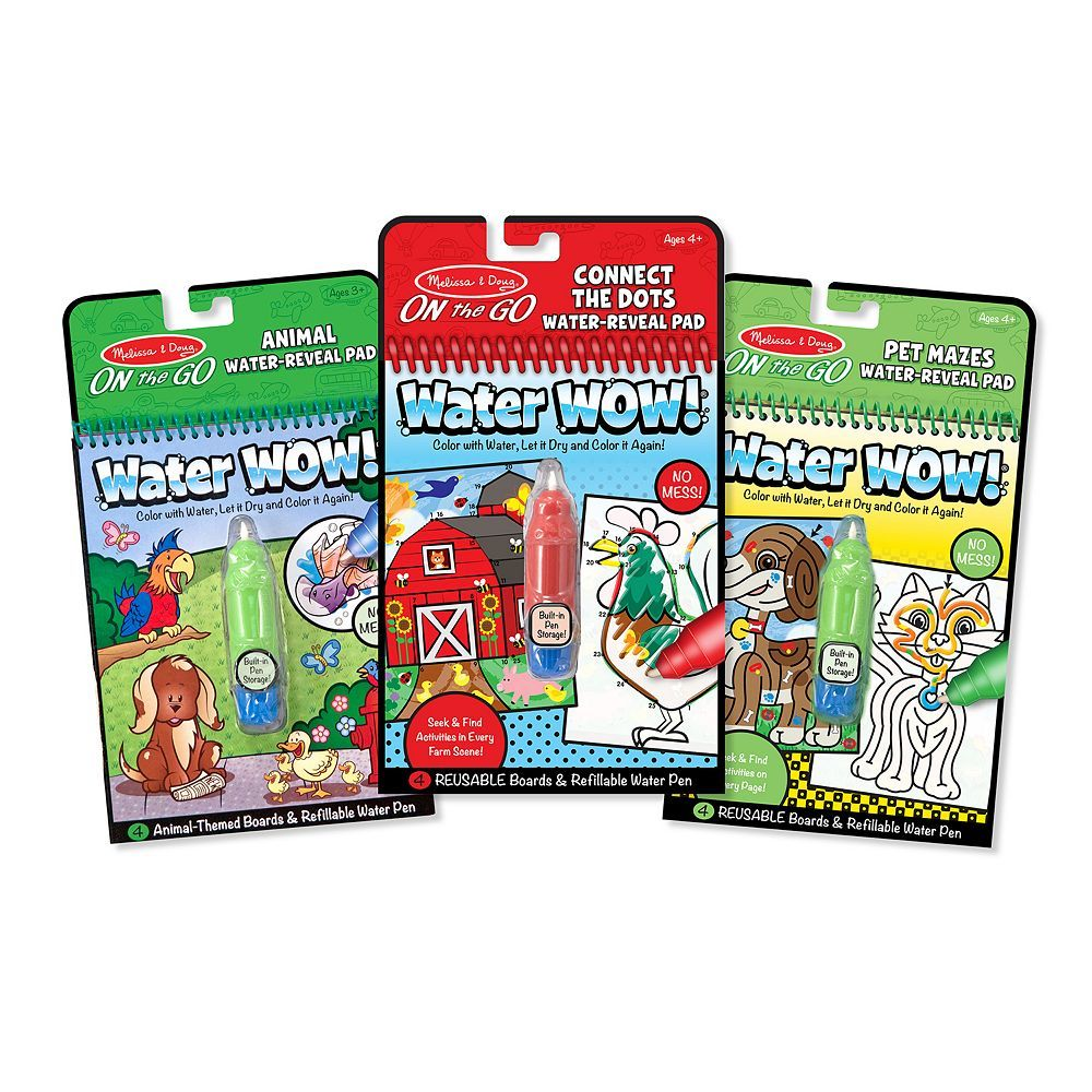 Melissa Doug Water Wow Activity Bundle Coloring Book Set Book Activities Activities
