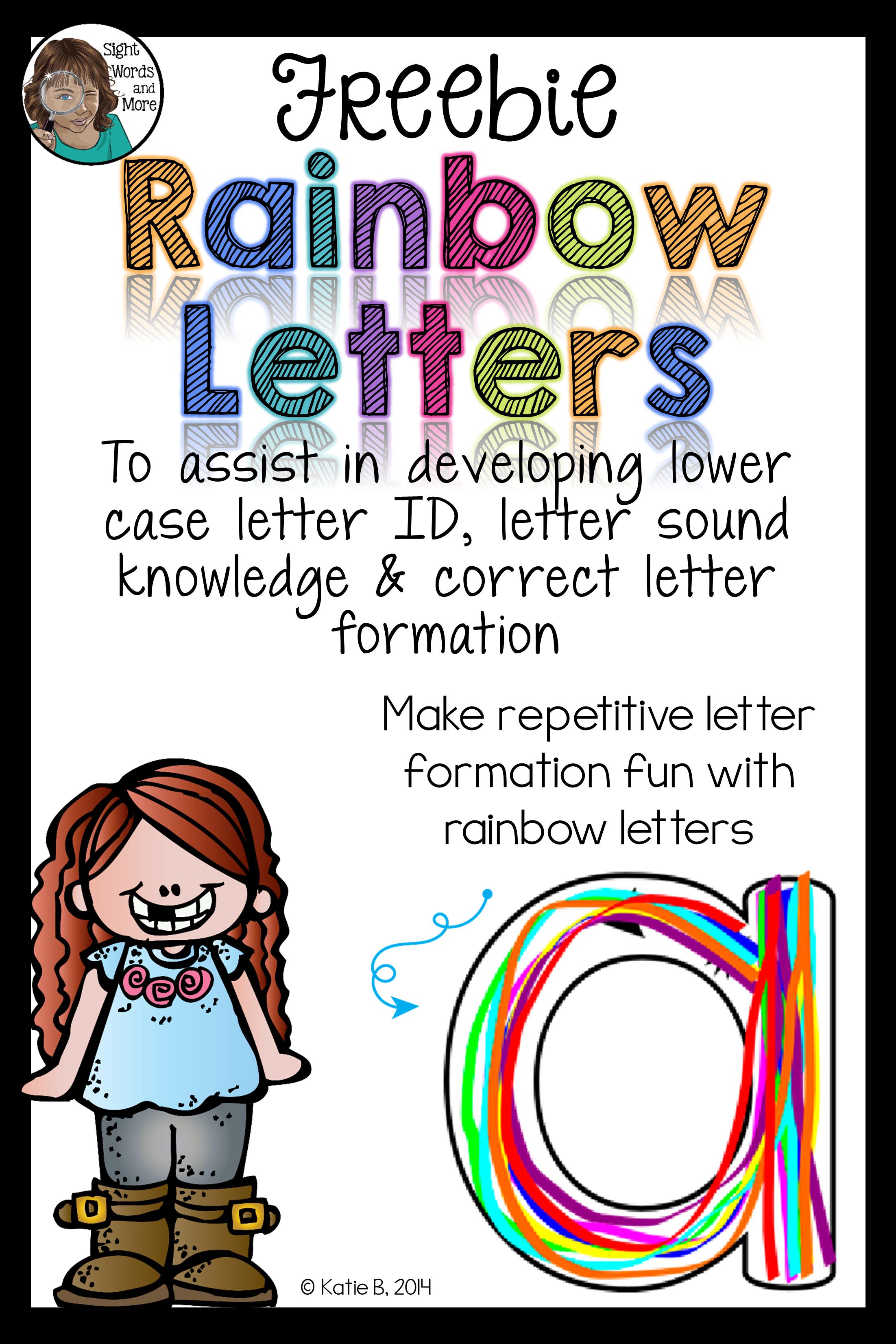 Rainbow Letters Freebie