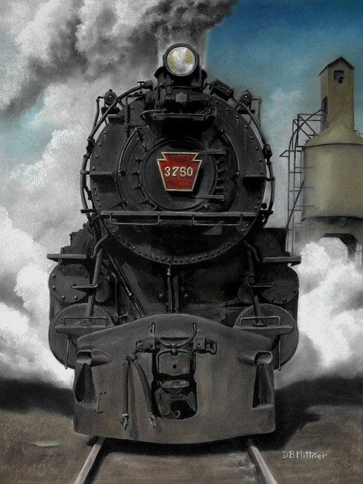 Smoke and Steam Art Print by David Mittner