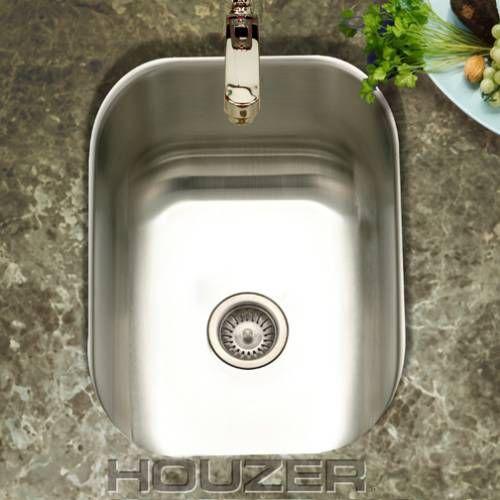 Houzer CS 1307 Club Stainless Steel Undermount Small Bar   Prep Sink 10x 12