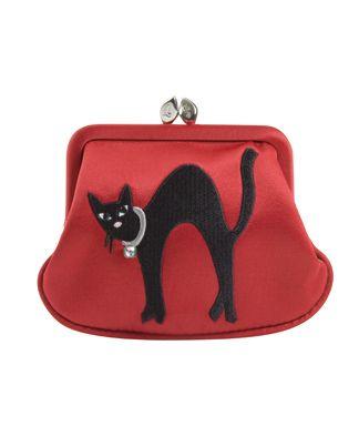 Black Cat Frame Clutch | Lulu Guinness