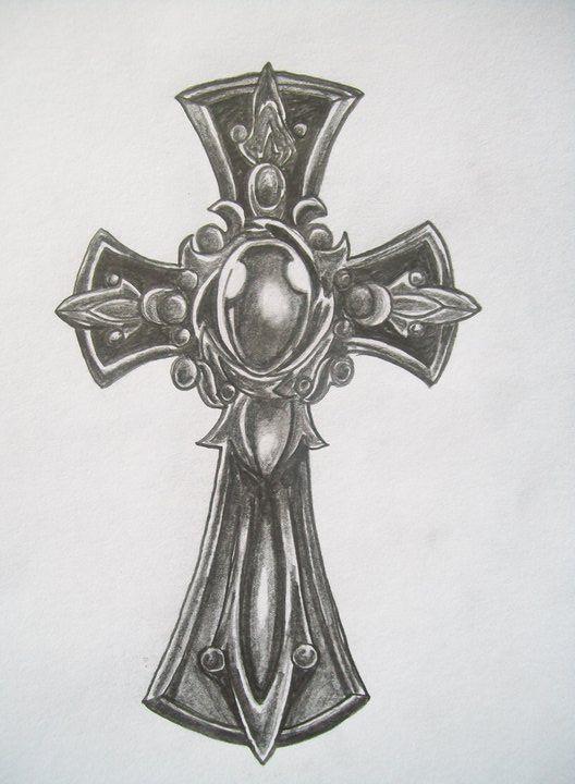 Cross Tattoo Pencil Sketches