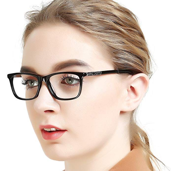 800712bfd5 OCCI CHIARI Optical Eyewear Non-prescription Eyeglasses Frame with Clear  Lenses For Women Review