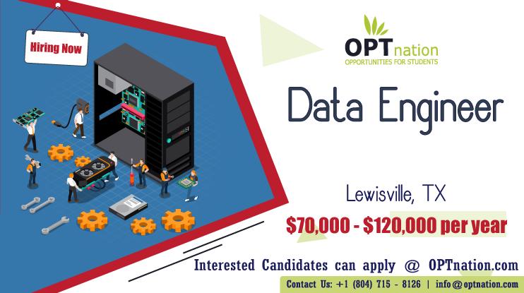 We're Hiring Data Engineer in Lewisville, TX. Build your