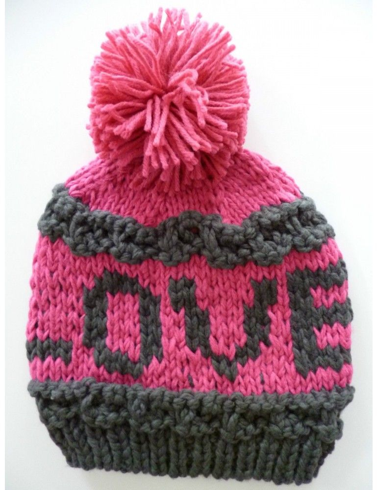 Zwillingsherz By Kurt Kolln Mutze Grau Pink Viskose Wolle Schrift Love Vintage Damenmode Online Shop Mutze Damenmode Online