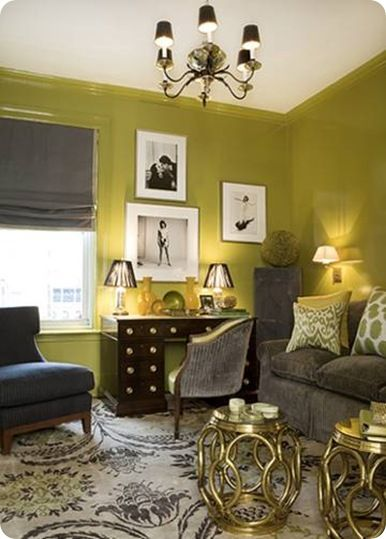 shiny green fun + grets | home | interior inspiration | Pinterest ...