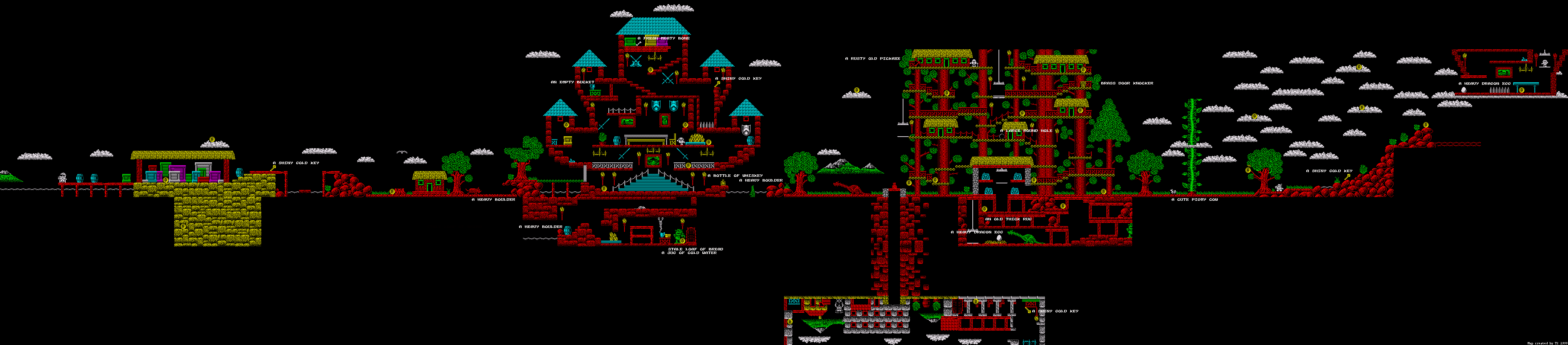 Fantasy World Dizzy Map | ZX Spectrum Games on