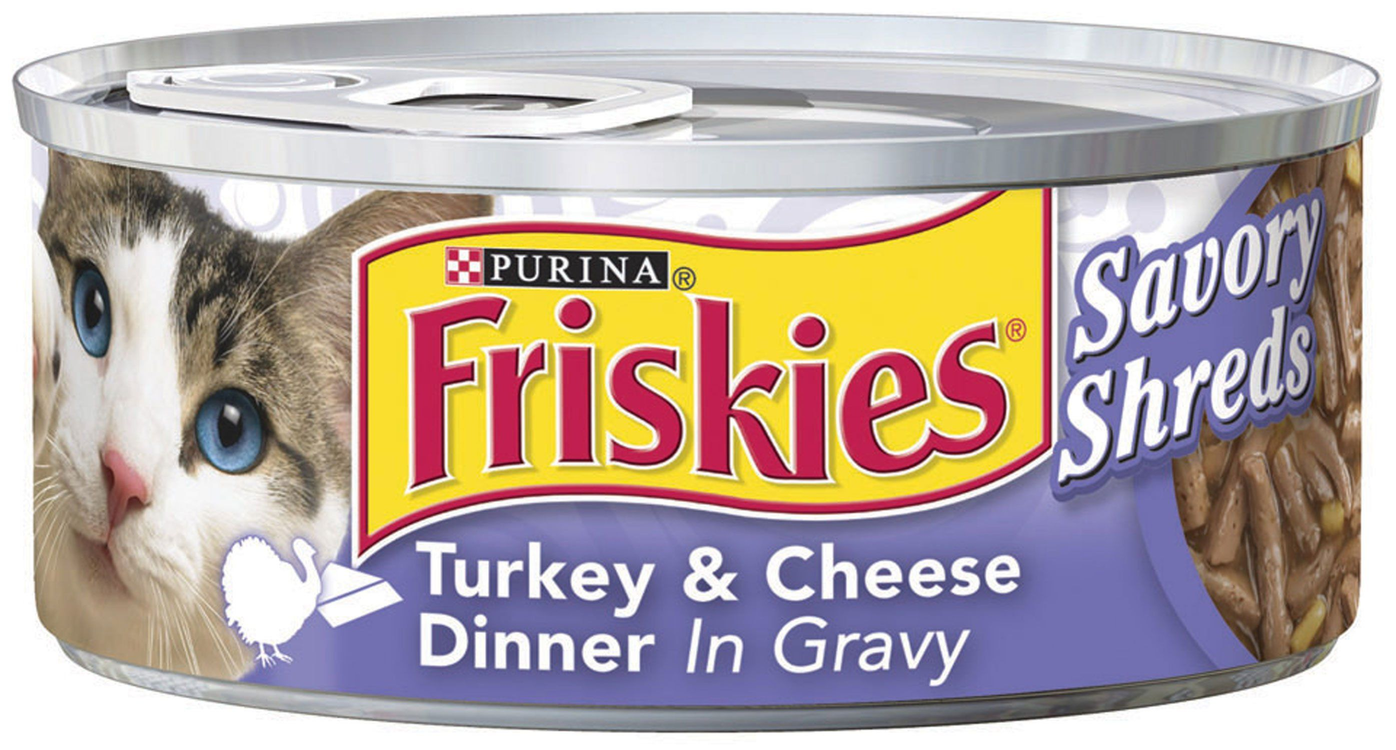 Friskies Savory Shreds Turkey And Cheese Dinner In Gravy