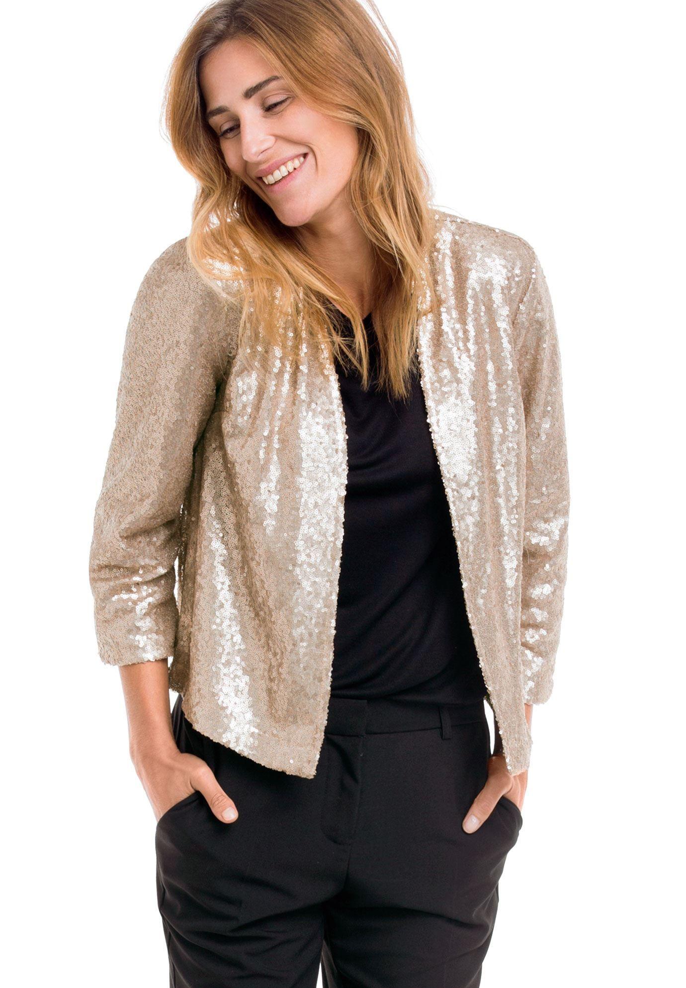 1241a3e412e0 Sequin Short Open Jacket by Ellos® - Women's Plus Size Clothing ...