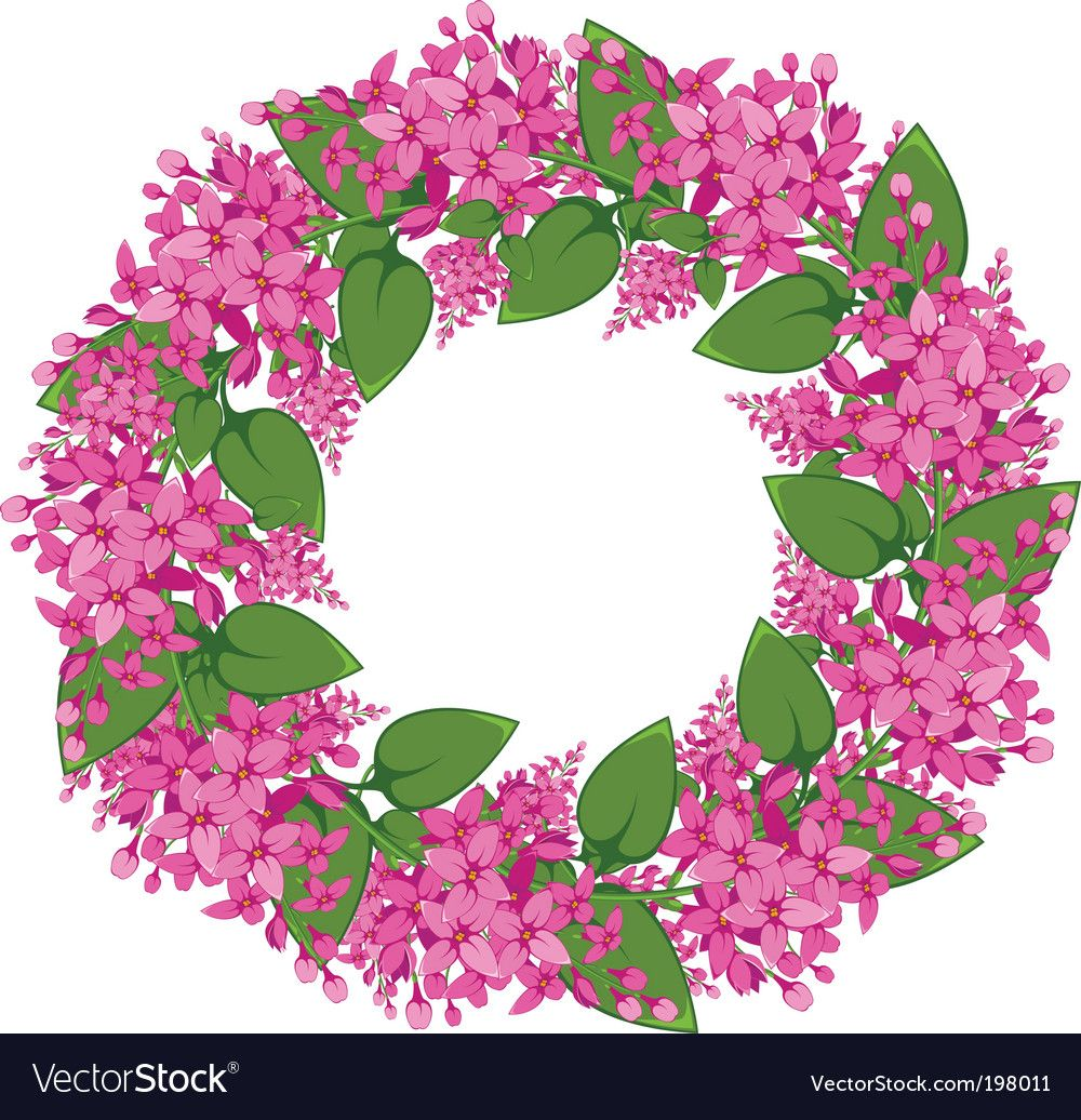 Flower wreath Royalty Free Vector Image VectorStock