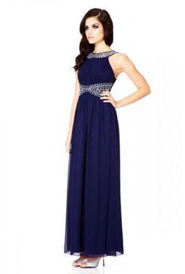ffd9433ba43e Quiz Navy Chiffon Beaded Maxi Dress on shopstyle.co.uk | prom ...