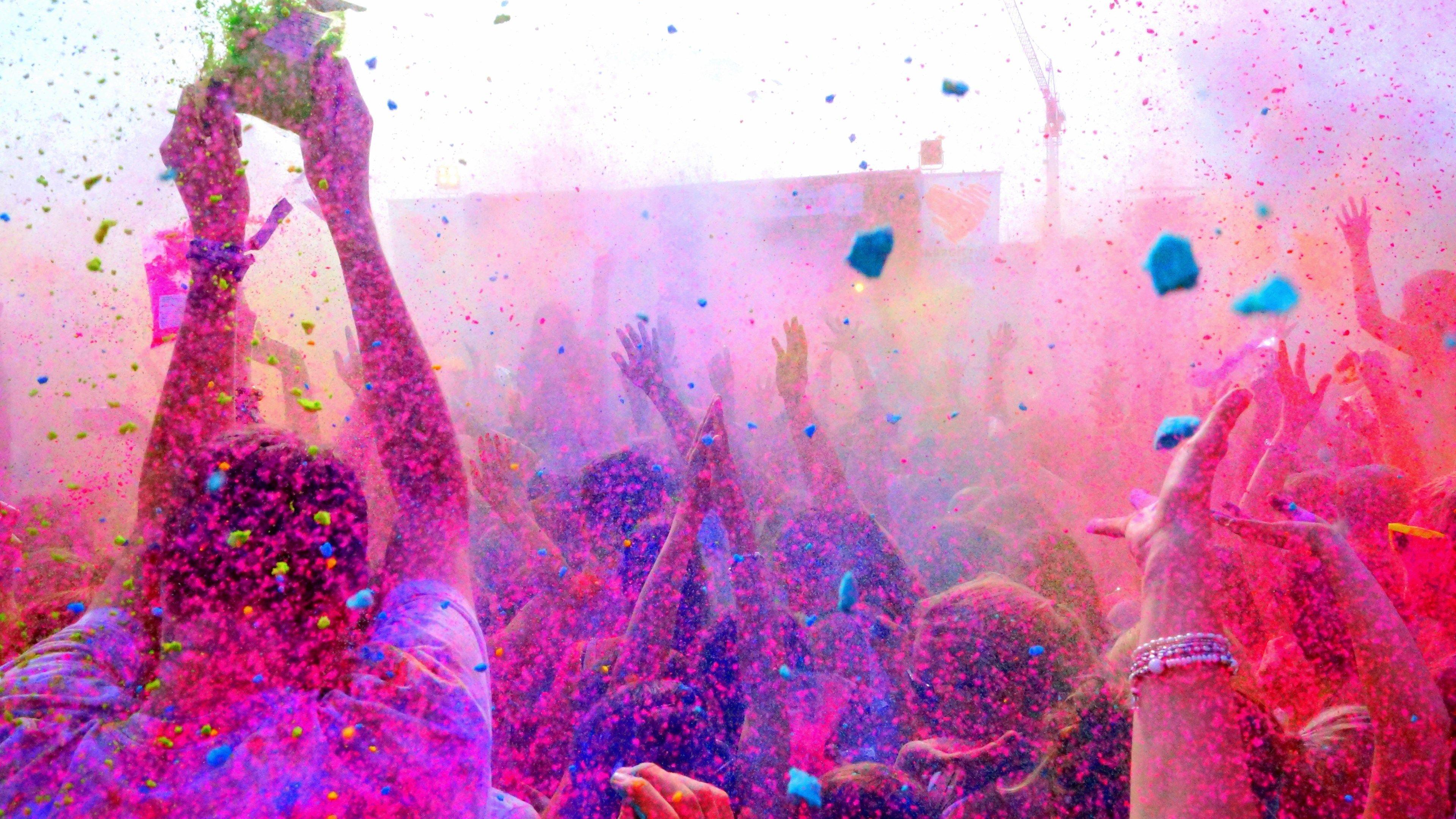 3840x2160 Pretty Holi Color Festival Happy Holi Holi Festival