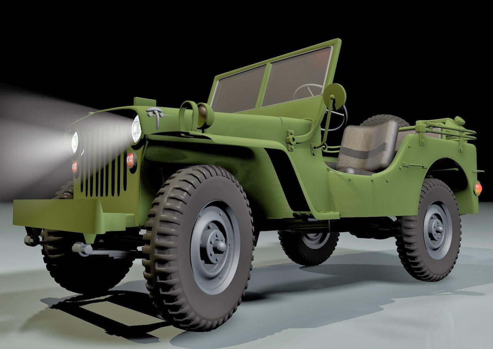 Pin Di 3d Willys Jeep